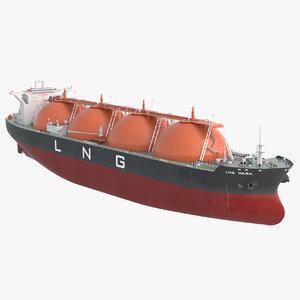 3D lng ship tanker