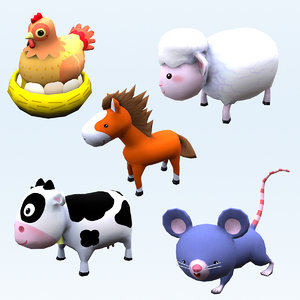 3D animals cow model