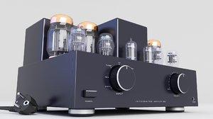 3D model amplifier tube vacuum