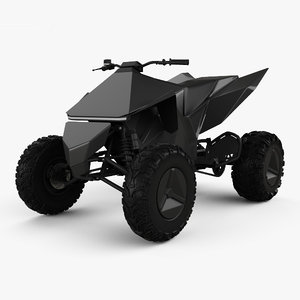 tesla cyberquad atv model