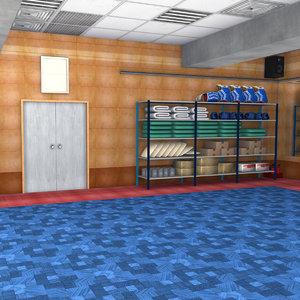 boxing hall 3D model