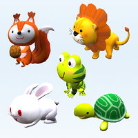 3D Cartoon Stylized Animals Collection 05