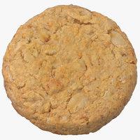 Oat Flakes Round Cracker 01