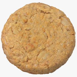 3D oat flakes cracker 01