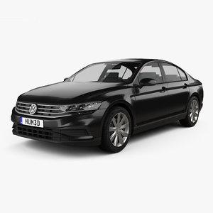 3D volkswagen passat 2019 model