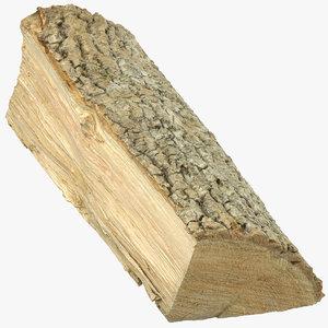 wooden log 02 3D model