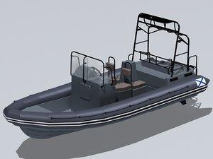 3D bl-680 fast boat model
