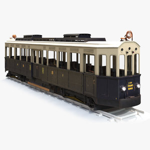 old train tramway 3D