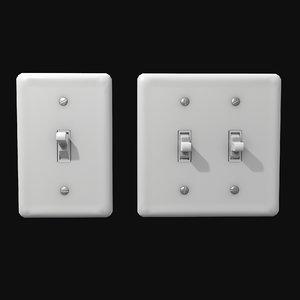 3D single - dual light switch
