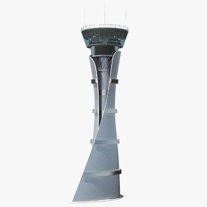 airport air traffic control tower 3D model