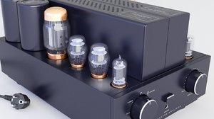 3D amplifier tube vacuum model