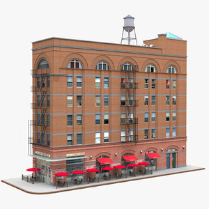 3D model little italy manhattan building