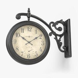 howard miller street clock 3D model