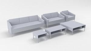 3D model pera deberenn sofa