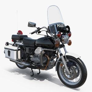 3D classic police bike model