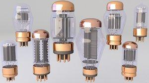 3D model hifi tube vacuum