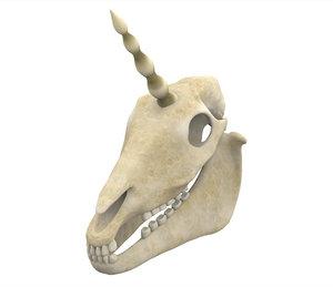 unicorn skull 3D model