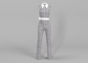 3D checkered suit