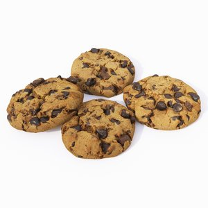 3D set choco cookies