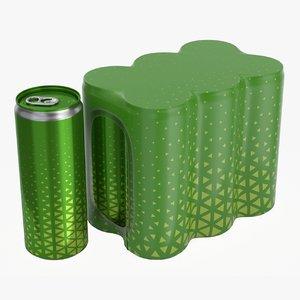 soda beverage 250 3D model