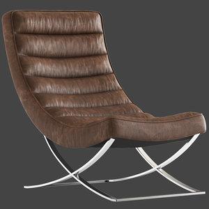 3D cult furniture denton lounge chair model