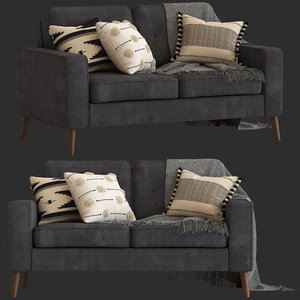 cult furniture madison 3-seater 3D