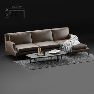 sofa natuzzi 3D model