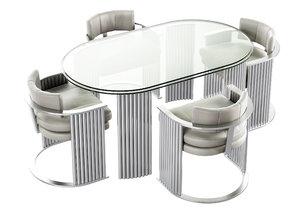 3D milo baughman table