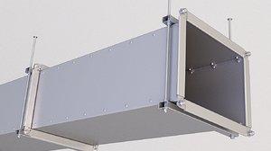 3D ventilation vent model