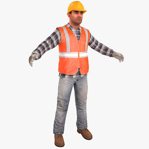3D construction worker v2 standard