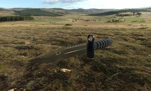 3D knife m9 bayonet