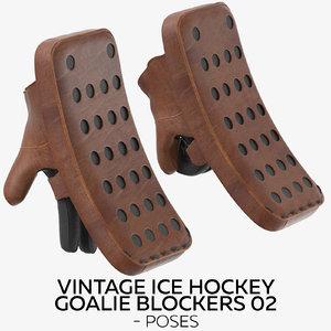 vintage ice hockey goalie 3D