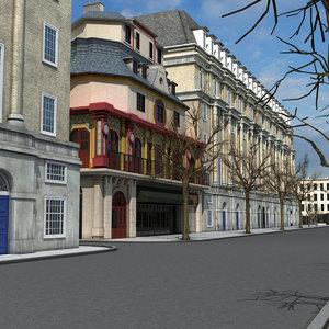 theater street scene 1 3D