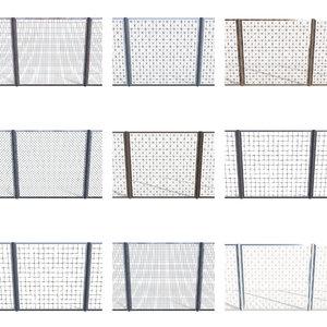 10 fence pack 2 3D model