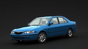 3D mazda 1998 626 model