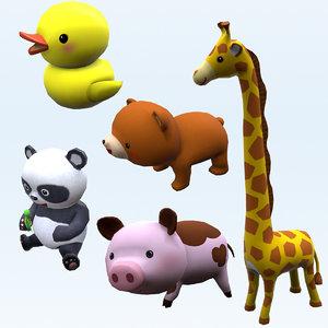 animals bear duck 3D model