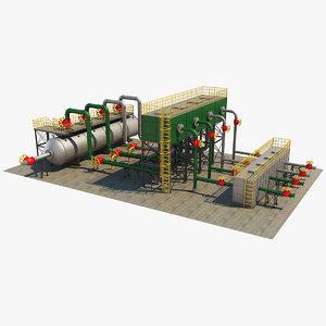 3D industrial element 10 model
