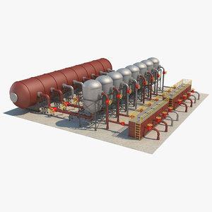 industrial silo 5 3D model
