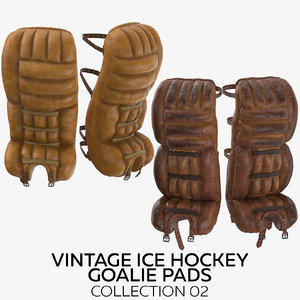 3D model vintage ice hockey goalie