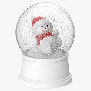 snow globe snowman 2 3D
