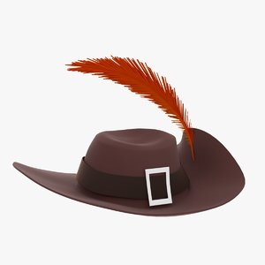 hat feather 3d max