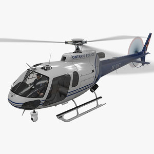 helicopter as-350 ontario police 3D model