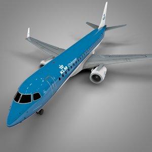 klm embraer190 l630 3D