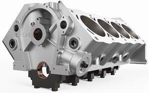 3D engine block model