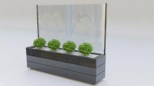 glass division planter model