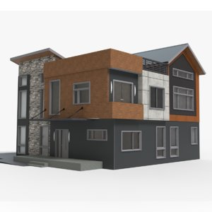 3D modern escape house model