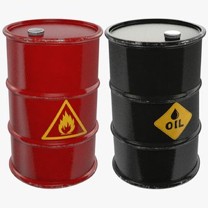 3D barrels oil v1 model