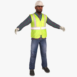 3D construction worker standard model