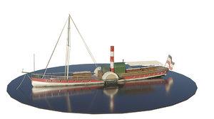 steam paddlesteamer model