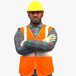 rigged worker standard 3D model